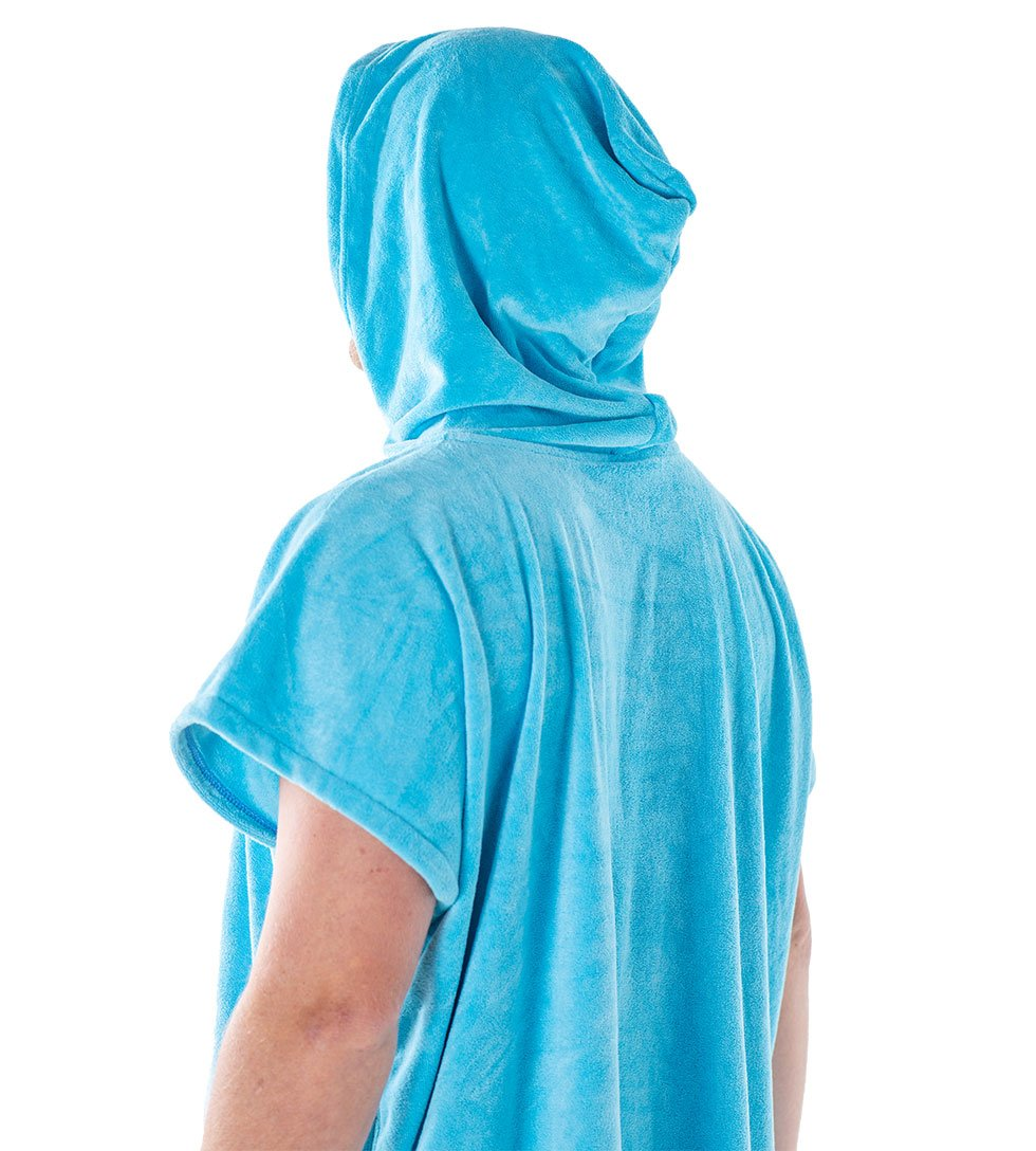 AQSS LIGHT BLUE PONCHO - The Surfboard Warehouse Australia