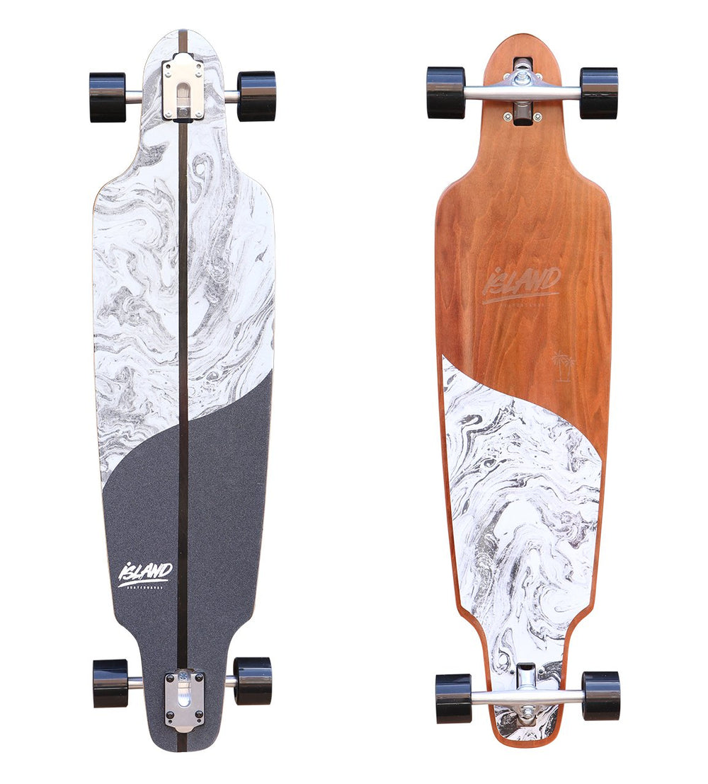 "ISLAND - 40"" BLACK LONGBOARD - The Surfboard Warehouse Australia"