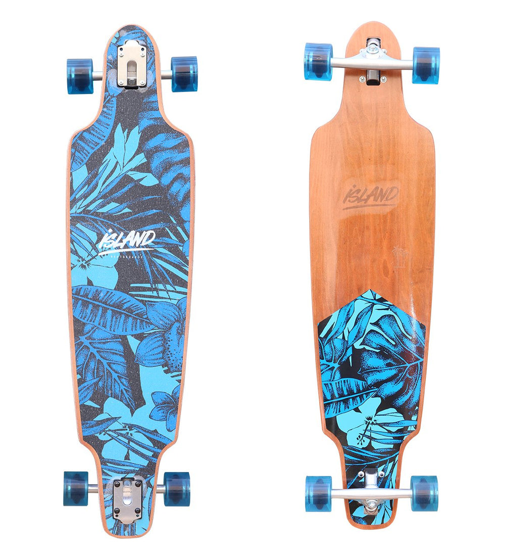 "ISLAND - 40"" LONGBOARD BLUE PARADISE - The Surfboard Warehouse Australia"