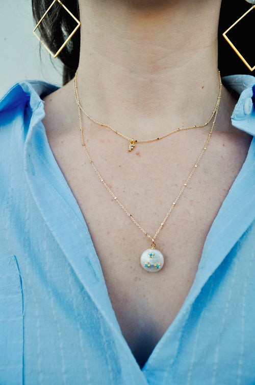 CZ Pearl Necklace