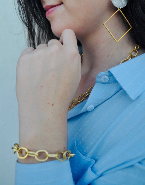 Gold Chain Bracelet - Rainbow