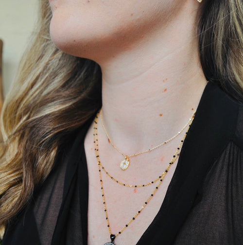 Enamel Satellite Chain Choker