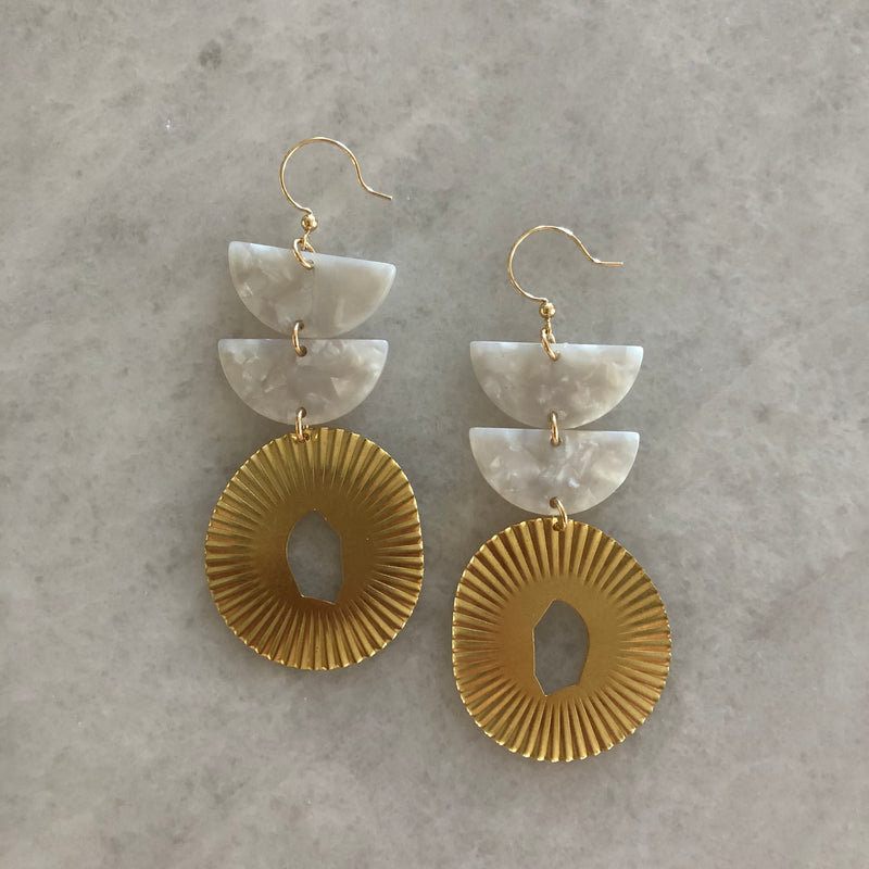 Double Acrylic Earrings