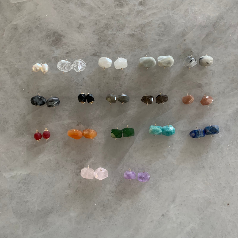 Gemstone Earrings - Medium