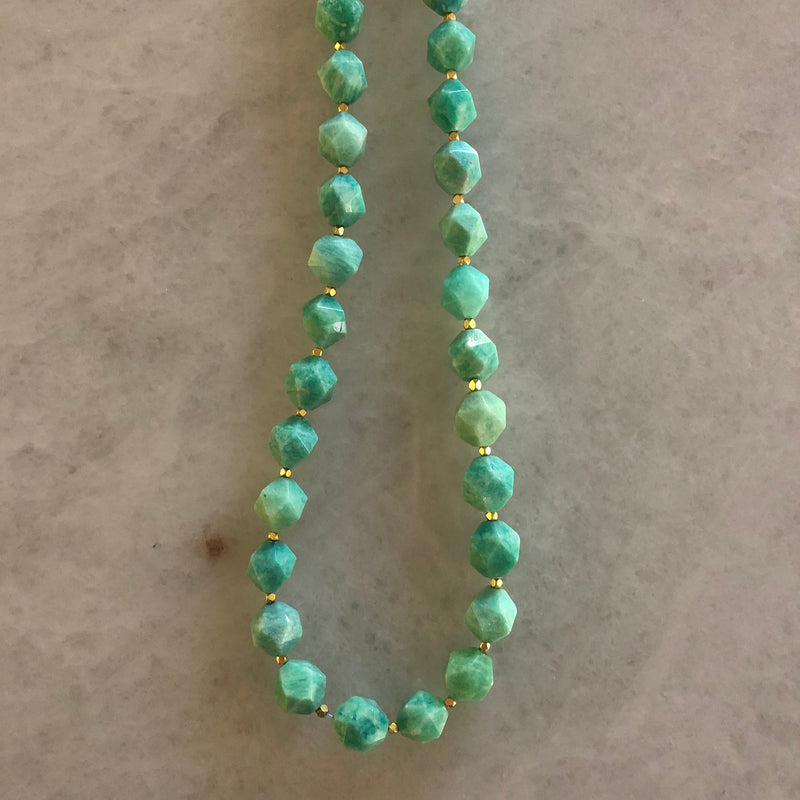 Faceted Bead Layering Necklace