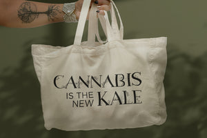 Cannabis is the New Kale Market Tote Bag