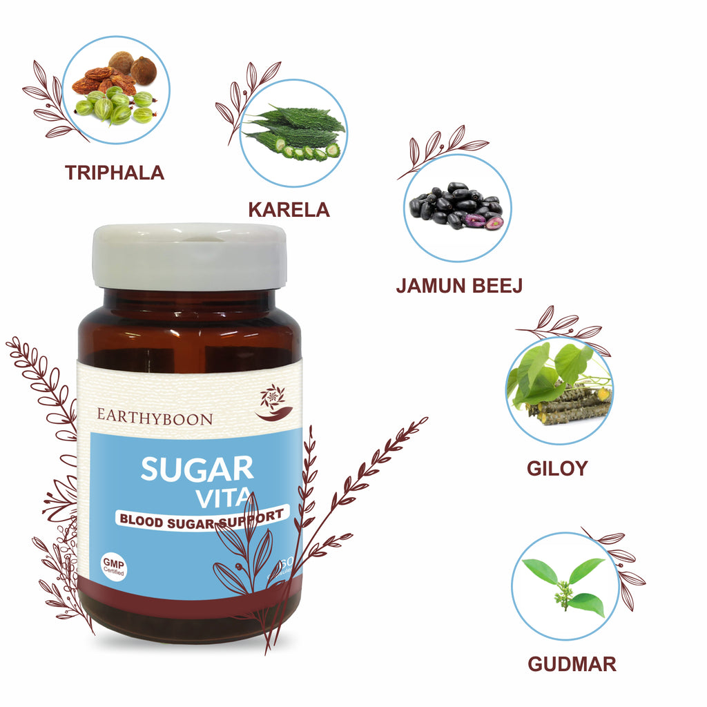 Earthyboon SugarVita Ayurvedic Herbal Capsules - Earthyboon India