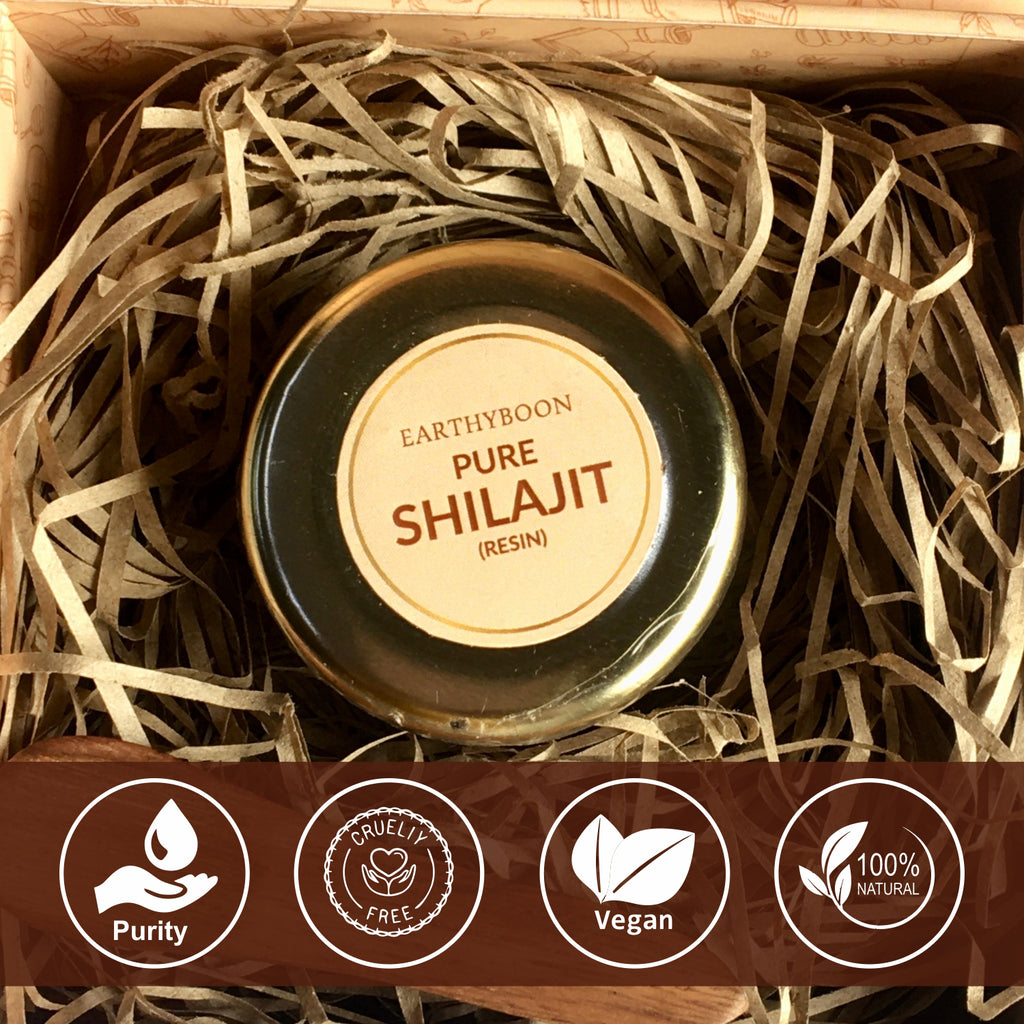 EARTHY BOON Pure Ayurvedic Shilajit Resin 30 Grams - Earthyboon India