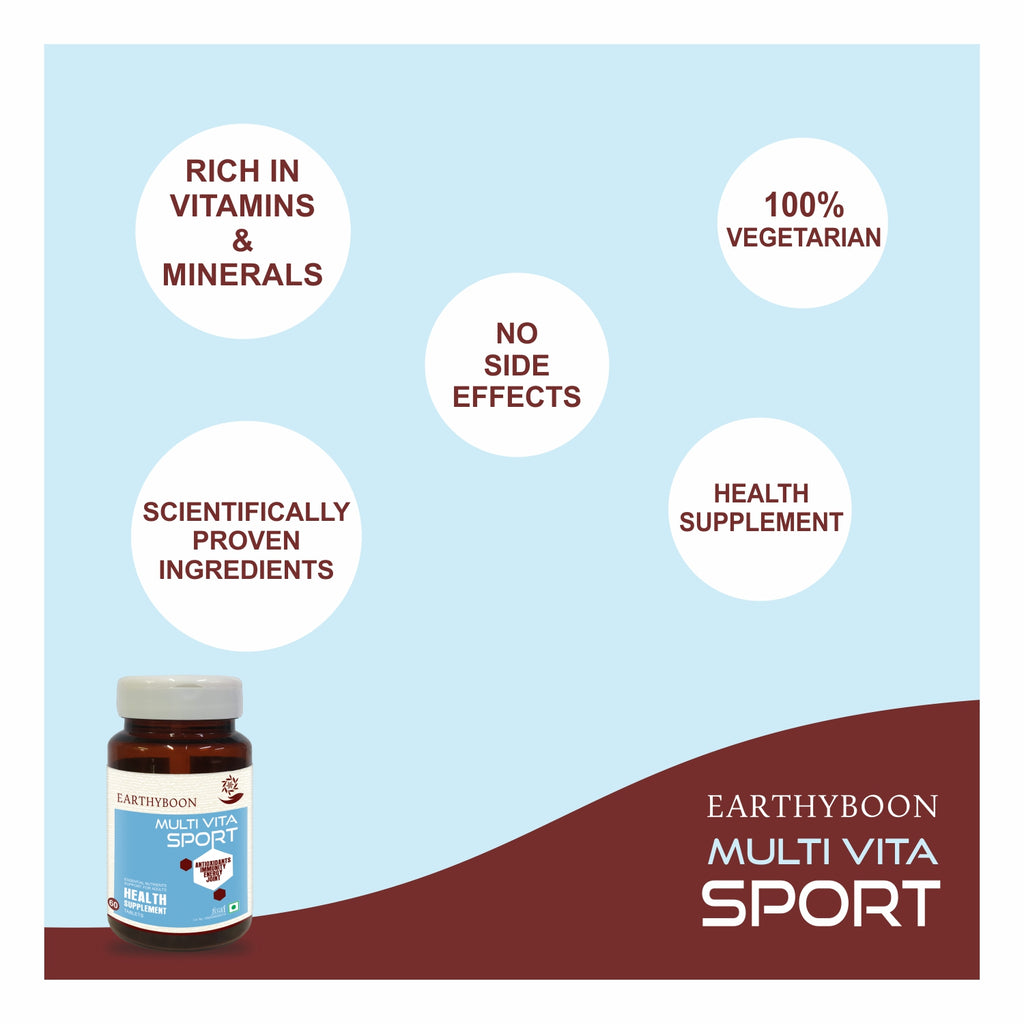 EARTHY BOON Multi Vita Sport Multivitamin Supplement for Joint, Energy, Immunity & Antioxidants - Earthyboon India