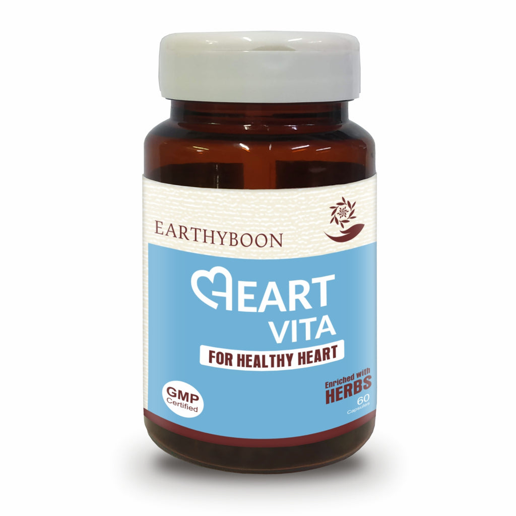 EARTHY BOON Heart Vita Capsule for Healthy Heart & Cardiac Wellness - 60 Capsules - Earthyboon India