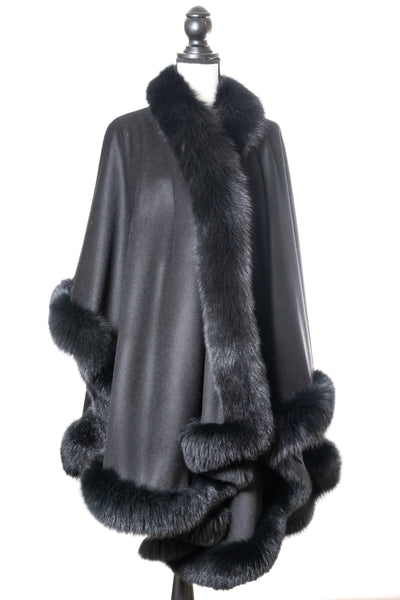 Cashmere Cape with Fox Lining