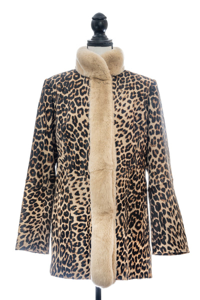 Leopard Print Calfskin with Rex Trim, One of a Kind