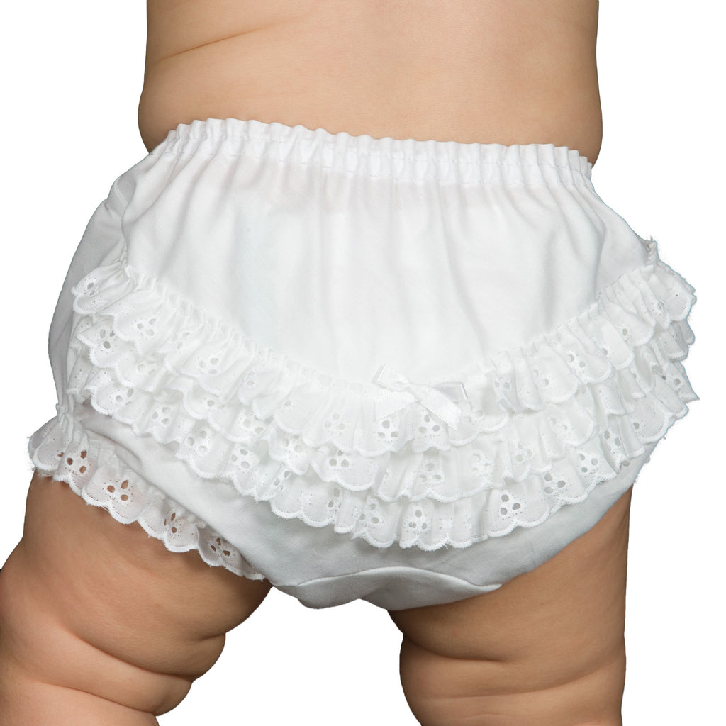 Baby Girls Batiste Rumba Diaper Cover Bloomers, (Solid Colors) (NB to XL) - I.C. Collections - Laura Dare Sleepwear - 1