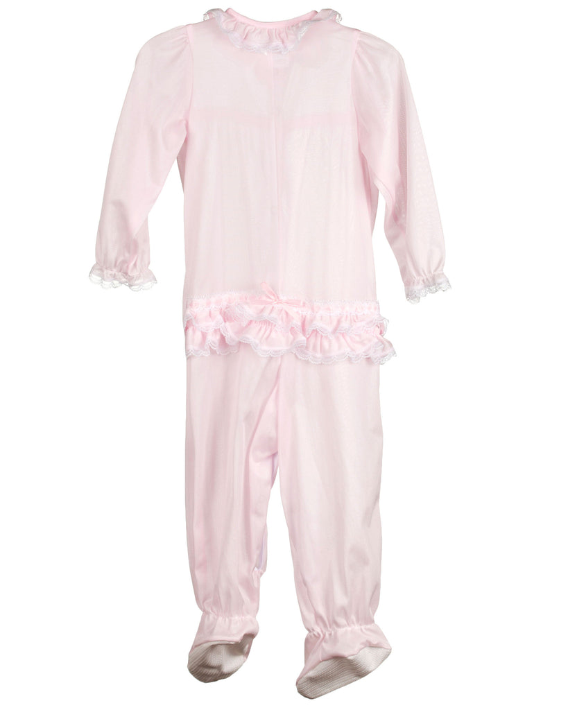 Laura Dare Baby Girls Long Sleeve Infant Jumpsuit PJ (Pink or Red) - Laura Dare - Laura Dare Sleepwear - 4