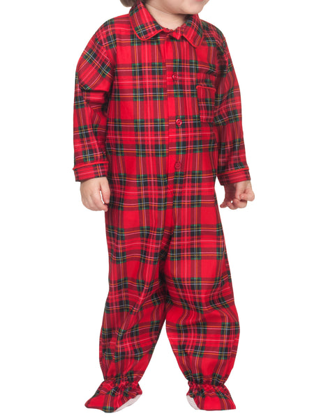 b0061e83f1 Infant Holiday Plaid Footed Jumpsuit