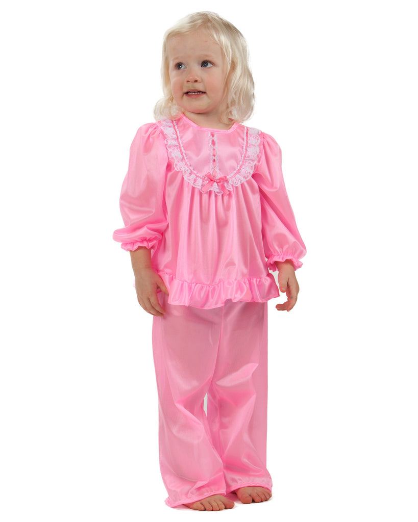 Laura Dare Girls Long Sleeve Traditional PJ Set (6 Colors Available) - Laura Dare - Laura Dare Sleepwear - 4