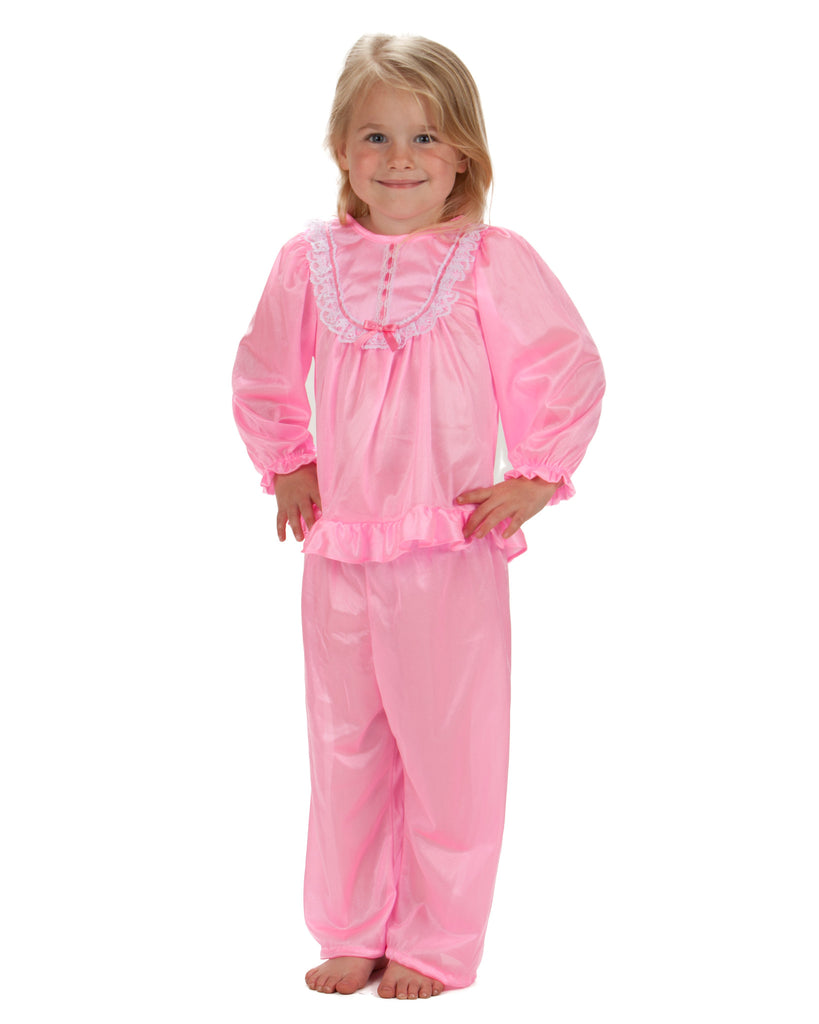 Laura Dare Girls Long Sleeve Traditional PJ Set (6 Colors Available) - Laura Dare - Laura Dare Sleepwear - 1
