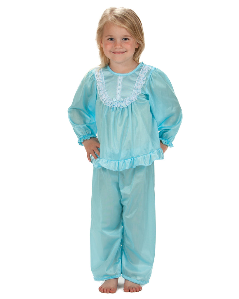 Laura Dare Girls Long Sleeve Traditional PJ Set (6 Colors Available) - Laura Dare - Laura Dare Sleepwear - 5