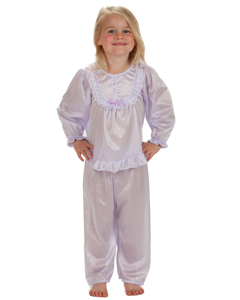 Laura Dare Girls Long Sleeve Traditional PJ Set (6 Colors Available) - Laura Dare - Laura Dare Sleepwear - 6