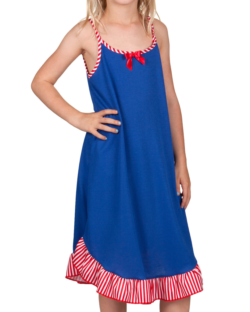 Laura Dare Patriotic Spaghetti Strap Gown (Royal Blue or Navy Blue) - Laura Dare - Laura Dare Sleepwear - 2