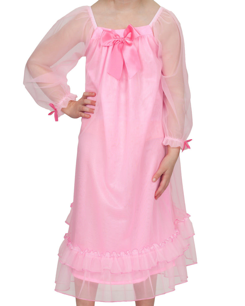 Laura Dare Girls Bowtastic Gown (5 Colors Available) - Laura Dare - Laura Dare Sleepwear - 4