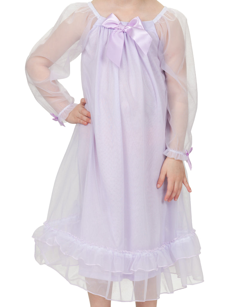 Laura Dare Girls Bowtastic Gown (5 Colors Available) - Laura Dare - Laura Dare Sleepwear - 1
