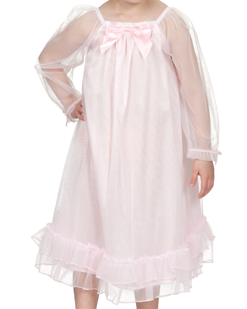 Laura Dare Girls Bowtastic Gown (5 Colors Available) - Laura Dare - Laura Dare Sleepwear - 3