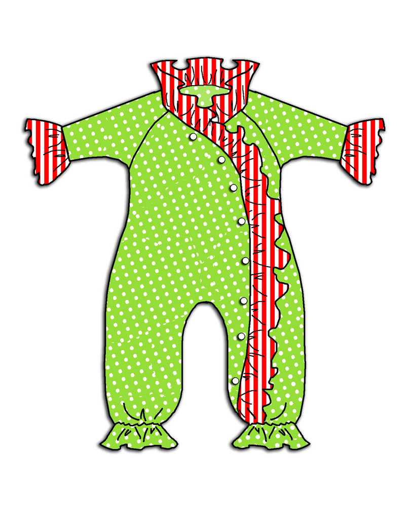 Jolly Jammies Crossover Frilly Jumpsuit
