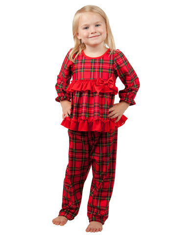 656f6114f6 Laura Dare. Christmas Morning Plaid Long Sleeve Pajama