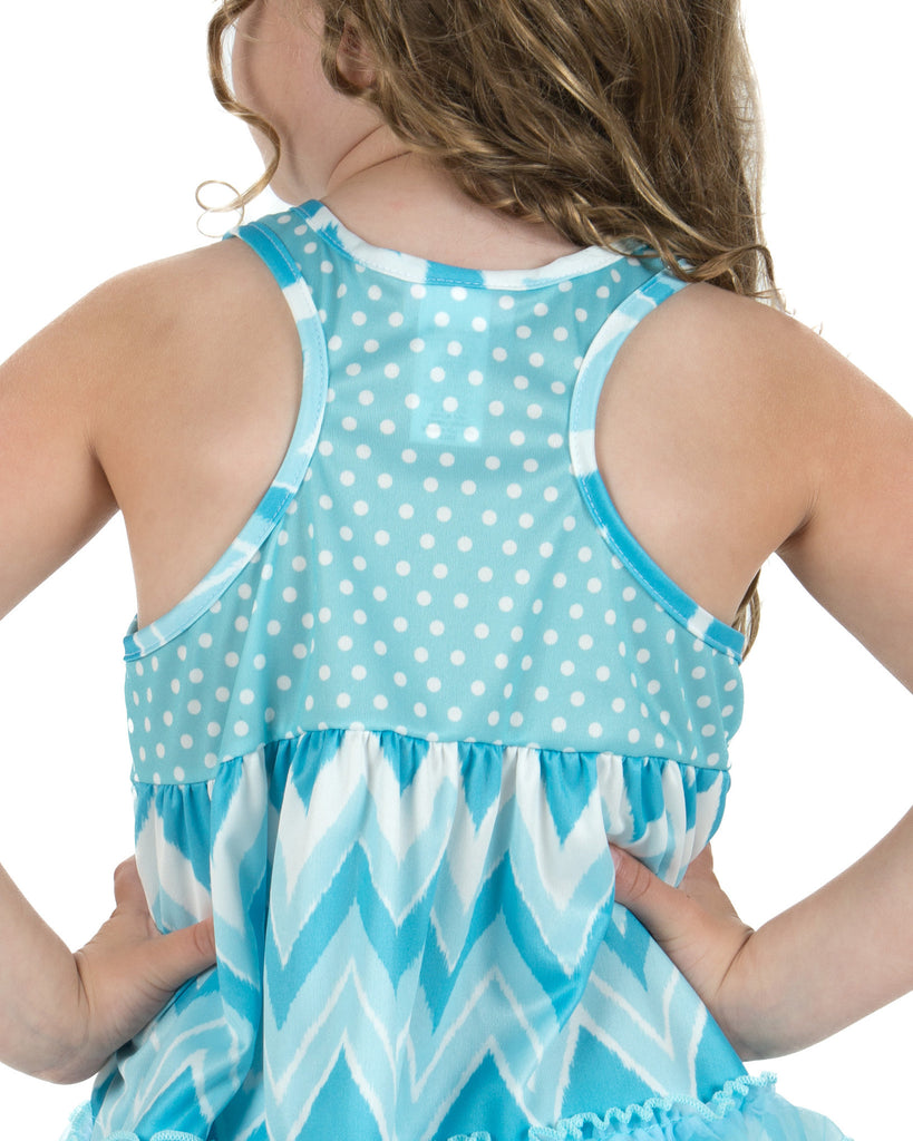 Laura Dare All The Rage Blue Racerback Pajamas (2T-14) - Laura Dare - Laura Dare Sleepwear - 2