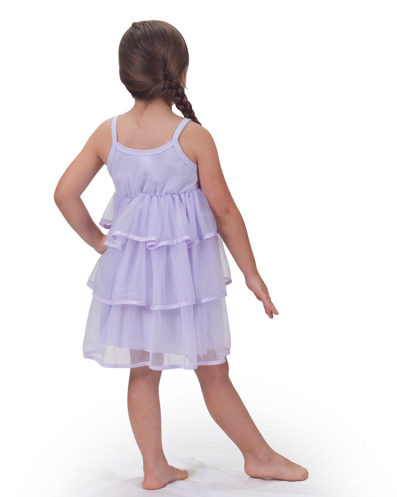 Little Girls Pastel Perfection Lilac Spaghetti Strap Gown - Laura Dare - Laura Dare Sleepwear - 2