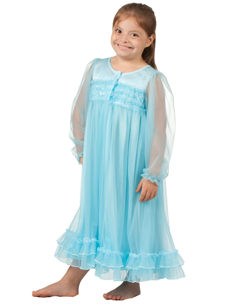 Laura Dare Enchanted Ice Princess Peignoir Set (2T - 14) - Laura Dare - Laura Dare Sleepwear