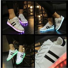 Load image into Gallery viewer, ew LED Emitting Luminous shoes Casual Shoe sapato de luz Men Women tenis USB Charging Lights shoes