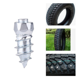 100 Pcs 9mm/12mm/15mm Car SUV ATV Anti-Slip Screw Stud Wheel Tyre Snow Tire Spikes Trim Auto Accessories