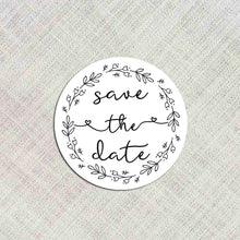 Load image into Gallery viewer, 72 x Save The Date Stickers, Wedding Labels, Wedding Invitation Seals, Save The Date Labels, Envelope Seals, Envelope Labels, Wedding Stickers