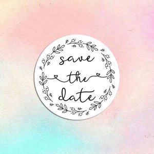 72 x Save The Date Stickers, Wedding Labels, Wedding Invitation Seals, Save The Date Labels, Envelope Seals, Envelope Labels, Wedding Stickers