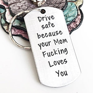car accessories Keychain for Daughter New Driver Keychain, Keychain to Son,Drive Safe Keychain, Fun Mom Gift