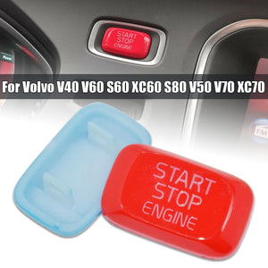 Car Inside Engine Start Stop Button Trim Cover For Volvo V40 V60 S60 XC60 S80 V50 V70 Red/Blue
