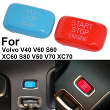 Load image into Gallery viewer, Car Inside Engine Start Stop Button Trim Cover For Volvo V40 V60 S60 XC60 S80 V50 V70 Red/Blue