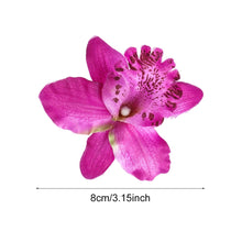 Load image into Gallery viewer, 2Pcs Fashion Girls Barrette Hairband Beach Flower Hair Clips Wedding Accessories Bridal Hairpins Orchid