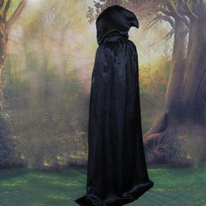 Halloween Hooded Cloak Velvet Witches Princess Death Long Cape Adult Kids Costume Cosplay Outwear