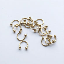 Load image into Gallery viewer, 1pc Trendy Surgical Steel C Shape Segment Tragus Fake Septum Nose Rings Stud Helix Piercing Body Jewelry Women Earrings