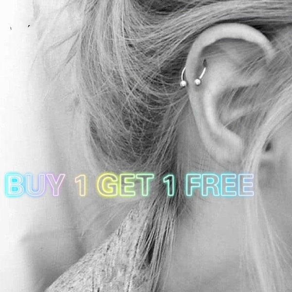 1pc Trendy Surgical Steel C Shape Segment Tragus Fake Septum Nose Rings Stud Helix Piercing Body Jewelry Women Earrings