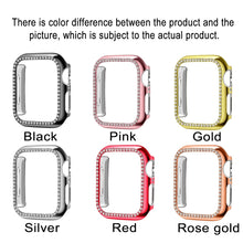 Load image into Gallery viewer, For apple watch case 38mm 42mm 40mm 44mm women Diamond Bling Crystal Metal stainless steel Protective case for apple watch Series 4 3 2 1 iWatch cover