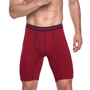 3 Pieces / Pack Men's Plus Size No Ride Up Long Leg Boxer Underwear Briefs