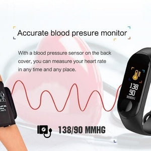 Smart Wristband Fitness Bracelet Heart Rate Monitor Activity Tracker Smart Band Sport Watch