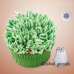 2pc Grass Sugar Fondant Cake Decorating Baking Tips Icing Pastry Tool Piping Nozzles