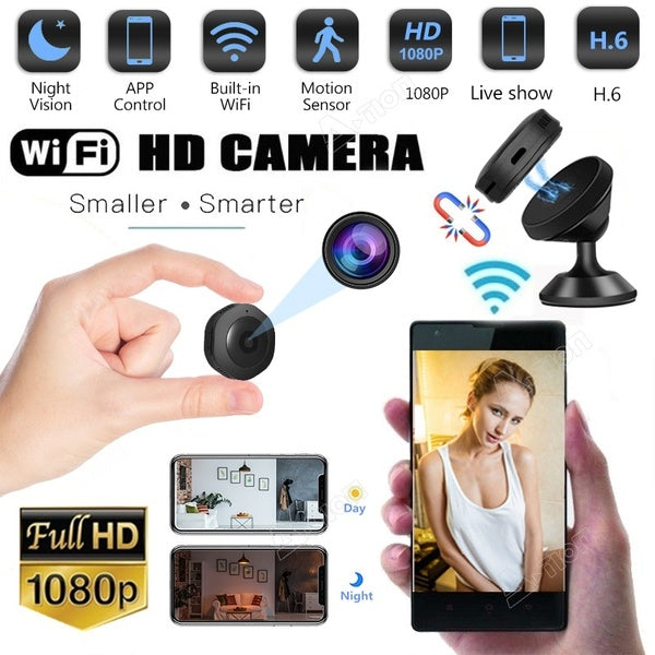 Newest 1080P HD Mini WIFI Hidden Camera Wireless Ip Camera Micro Camera Video Photography Motion Sensor Camcorders DVR Infrared Security Survillance Night Vision Camera