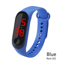 Load image into Gallery viewer, Men LED Digital Watch Luxury White / Red Light Touch Screen Silicone Strap Wristwatch Women Sports Yoga Bracelets Watches Kids Clocks