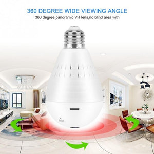 High Quality!!! 1.3 Million Pixels 960P HD Wifi Panoramic Light Bulb Camera Home Security Camera